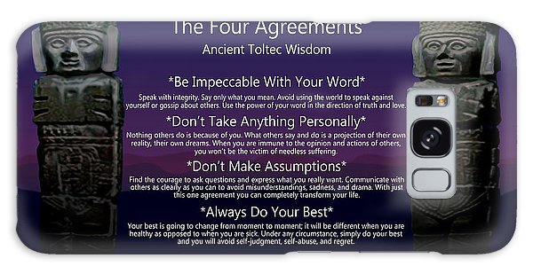 The Four Agreements Poster Galaxy Case