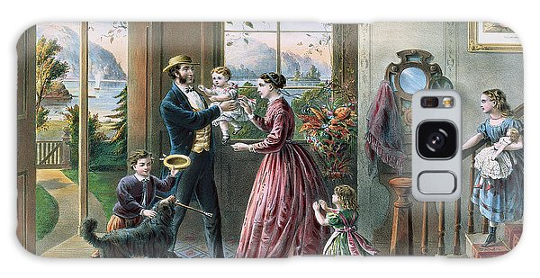 Clock Galaxy Case - The Four Seasons Of Life  Middle Age by Currier and Ives