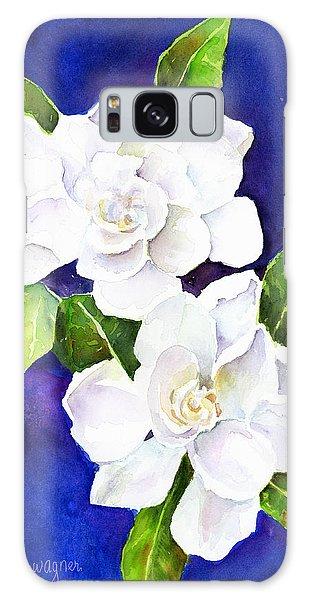 Gardenia Galaxy Case - The Fragrant Gardenia by Arline Wagner