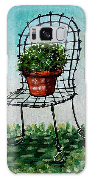 The French Garden Cafe Chair Galaxy Case