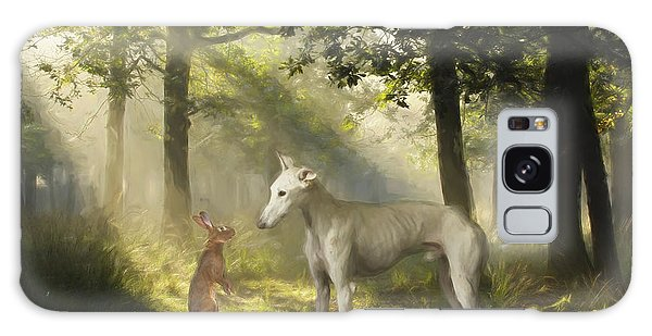 Sighthound Galaxy Case - The Galgo And The Hare by Travis Patenaude