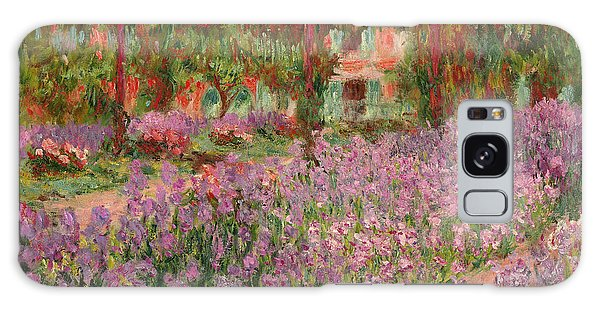 Flowerbed Galaxy Case - The Garden At Giverny by Claude Monet