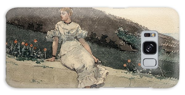 Impressionistic Galaxy Case - The Garden Wall by Winslow Homer