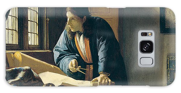 Jan Vermeer Galaxy Case - The Geographer by Jan Vermeer