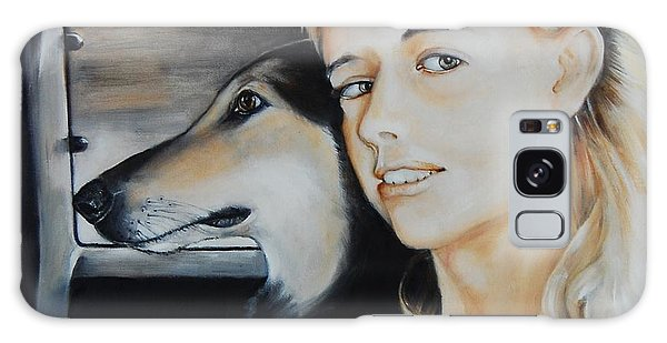 The Girl And Her Dog  Galaxy Case