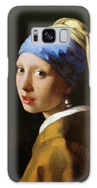 Girl With A Pearl Earring Galaxy Case - The Girl With A Pearl Earring by MotionAge Designs