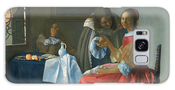 Jan Vermeer Galaxy Case - The Girl With A Wineglass by Jan Vermeer