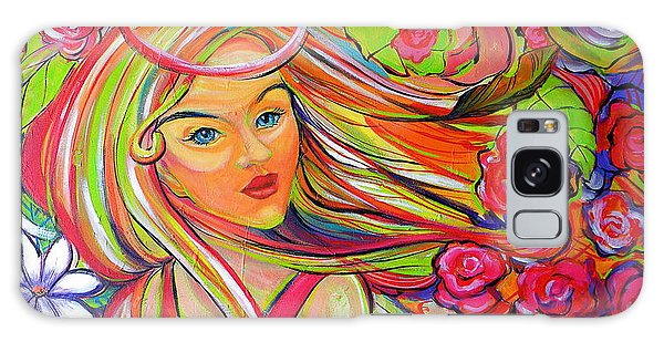 The Girl With The Flowers In Her Hair Galaxy Case by Jeanette Jarmon