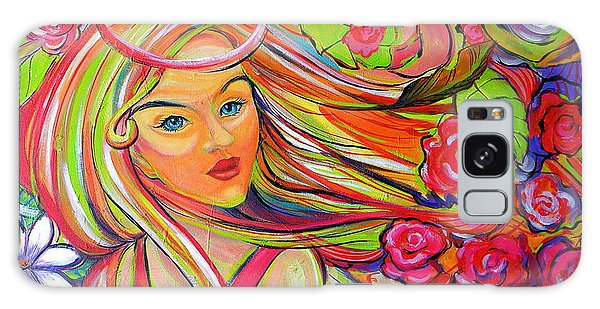 The Girl With The Flowers In Her Hair Galaxy Case