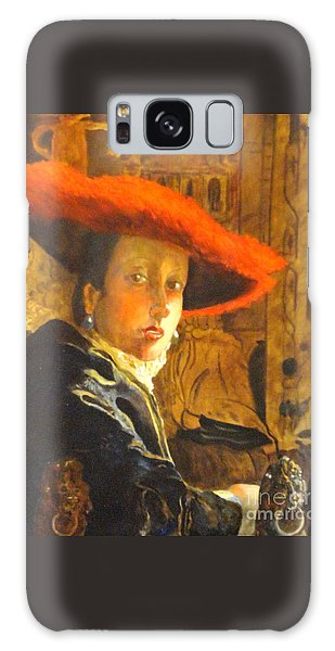 The Girl With The Red Hat After Jan Vermeer Galaxy Case