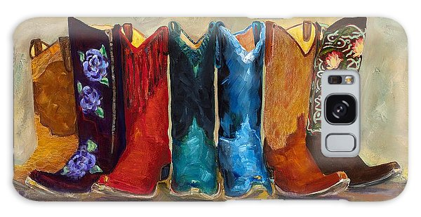 The Girls Are Back In Town Galaxy Case by Frances Marino