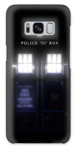Galaxy Case - The Glass Police Box by Jules Gompertz