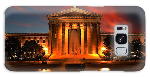 The Golden Columns - Philadelphia Museum Of Art - Sunset Galaxy Case