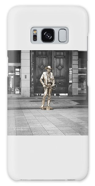 Galaxy Case featuring the photograph The Golden Cowboy by Stwayne Keubrick