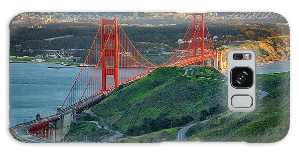 The Golden Gate At Sunset Galaxy Case