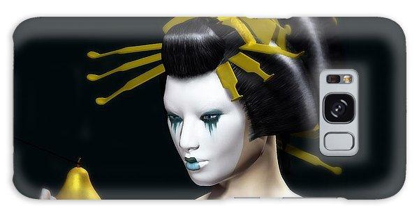 Galaxy Case featuring the digital art The Golden Pear by Sandra Bauser Digital Art