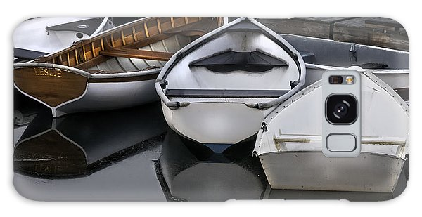 Skiffs On Placid Waters-coastal Maine Galaxy Case