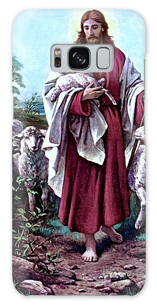 The Good Shepherd 1878 Bernhard Plockhorst Galaxy Case