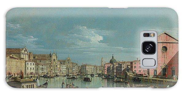 Place Of Worship Galaxy Case - The Grand Canal Facing Santa Croce by Bernardo Bellotto