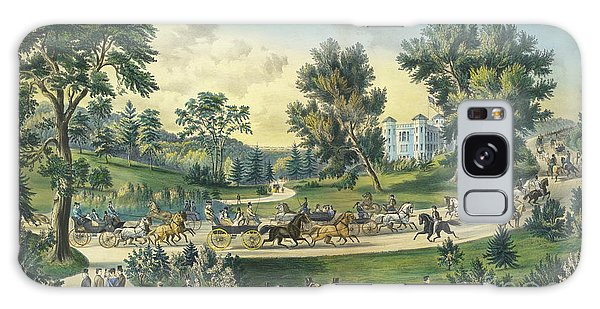 Central America Galaxy Case - The Grand Drive, Central Park, New York, 1869 by Currier and Ives