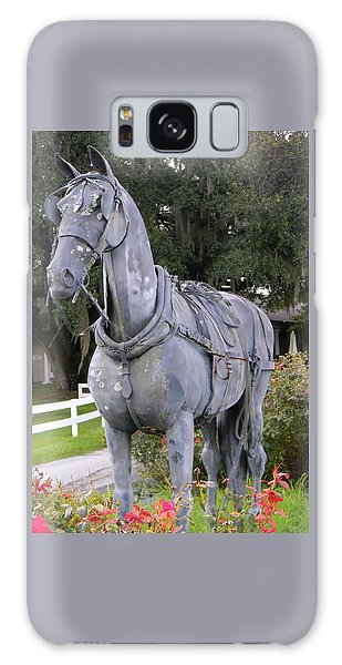 Horse At The Grand Oaks Resort Galaxy Case by Warren Thompson
