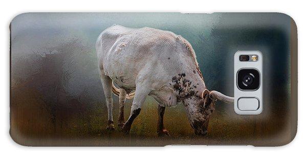 The Grazing Texas Longhorn Galaxy Case