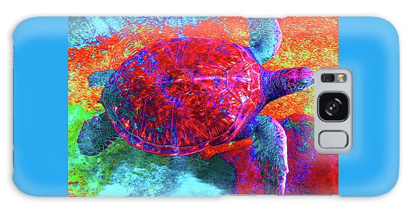 The Great Sea Turtle In Abstract Galaxy Case