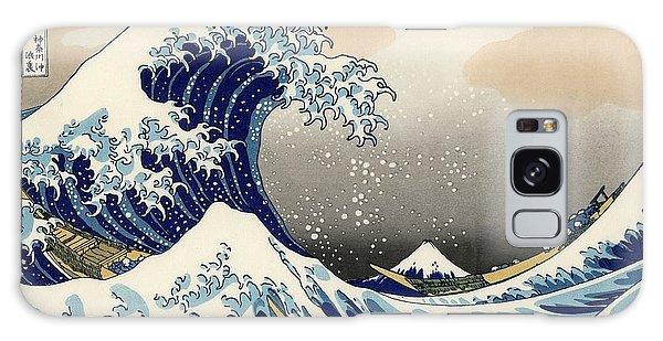 The Great Wave Off Kanagawa Galaxy Case by Katsushika Hokusai
