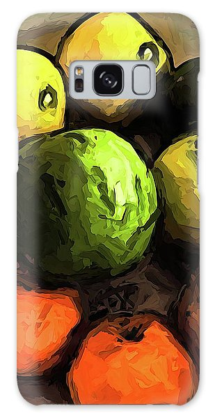 The Green And Gold Apples With The Orange Mandarins Galaxy Case
