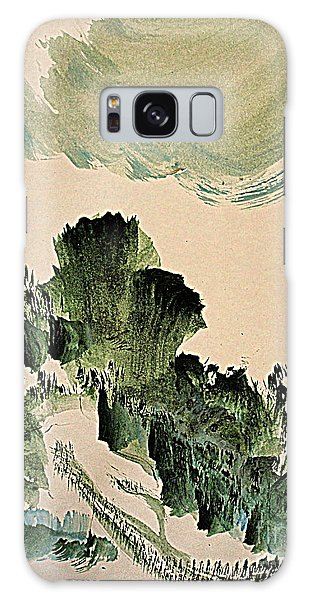 The Green Cliffs With A Cloud Galaxy Case