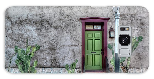 The Green Door Galaxy Case by Lynn Geoffroy