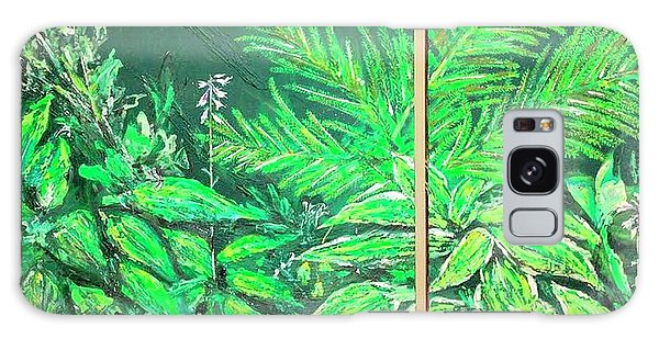 Galaxy Case featuring the painting The Green Flower Garden by Darren Cannell