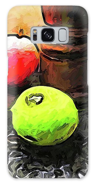 The Green Lime And The Apple With The Pepper Mill Galaxy Case