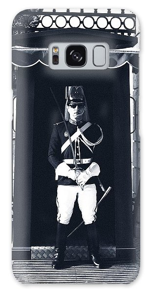 Galaxy Case featuring the photograph The Guard At The Palace by Lorraine Devon Wilke