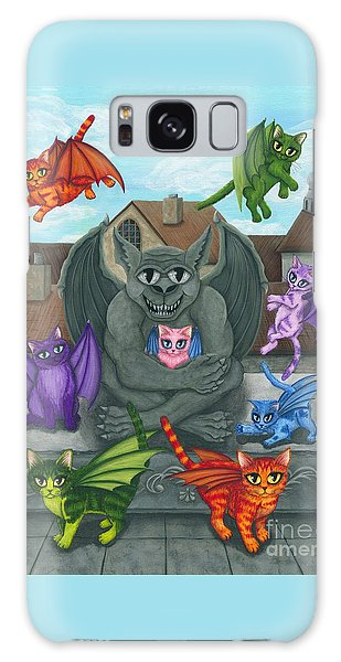 The Guardian Gargoyle Aka The Kitten Sitter Galaxy Case by Carrie Hawks