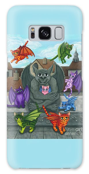 The Guardian Gargoyle Aka The Kitten Sitter Galaxy Case