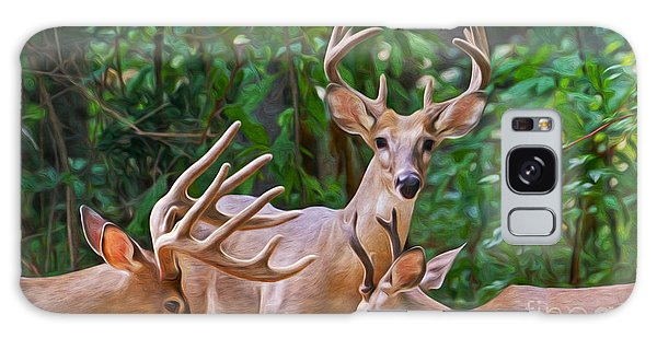 White-tailed Deer Galaxy Case - The Guys Grab A Bite by Laura D Young