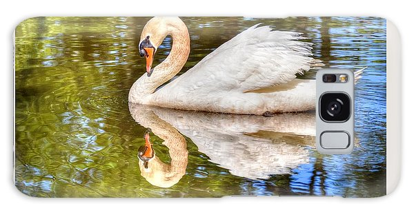 The Hammy Swan Galaxy Case by Ronda Ryan