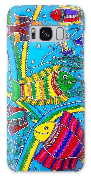 Madhubani Galaxy Case - The Happy Fishes by Vertikaa Singh
