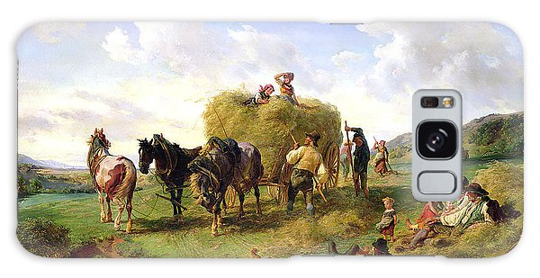 Cart Galaxy Case - The Hay Harvest by Hermann Kauffmann