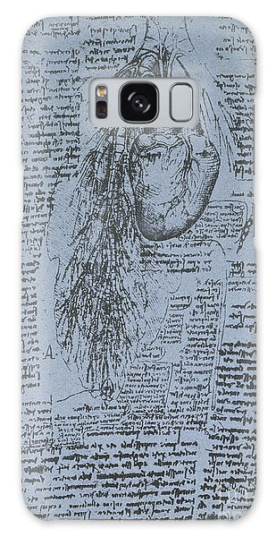 Pen And Ink Drawing Galaxy Case - The Heart And The Bronchial Arteries by Leonardo Da Vinci