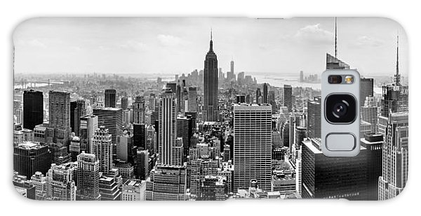 Center Galaxy Case - New York City Skyline Bw by Az Jackson