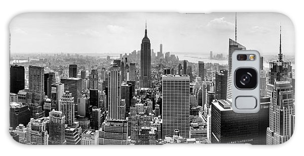 City Scenes Galaxy S8 Case - New York City Skyline Bw by Az Jackson