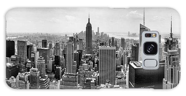 New York City Skyline Bw Galaxy Case by Az Jackson