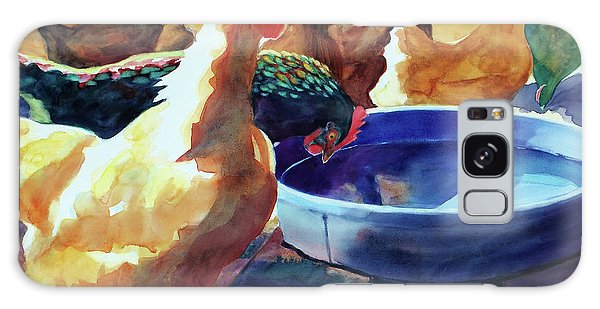 The Henhouse Watering Hole Galaxy Case by Kathy Braud