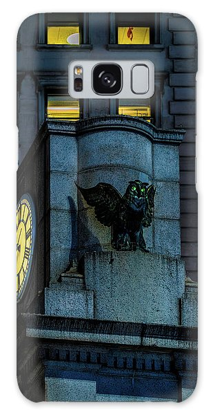 Galaxy Case featuring the photograph The Herald Square Owl by Chris Lord