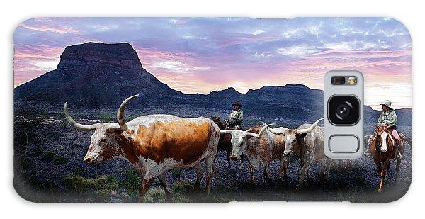 Texas Longhorns Blue Galaxy Case