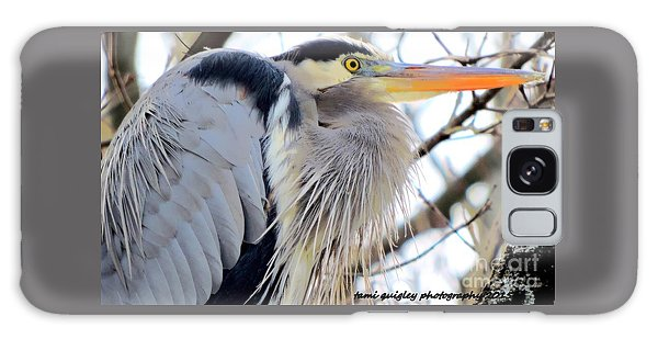 The Heron In Winter  Galaxy Case