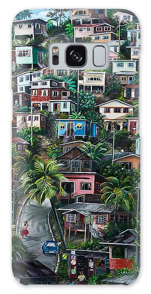 Cityscape Galaxy Case - The Hill     Trinidad  by Karin  Dawn Kelshall- Best