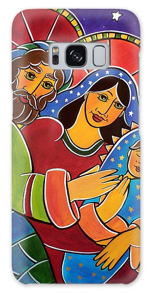Galaxy Case featuring the painting The Holy Family by Jan Oliver-Schultz